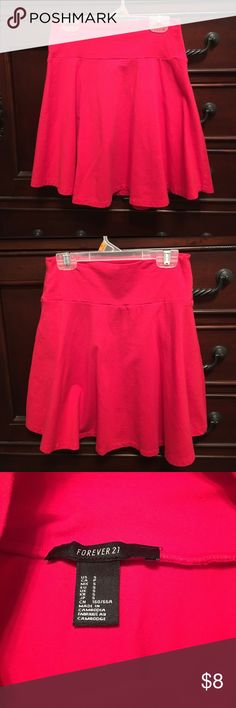 Forever 21 Red mini skirt Super cute Forever 21 Mini skirt. Size small. Stretchy. Would look great with black top and heels. Good to have for a night out or Christmas. Forever 21 Skirts