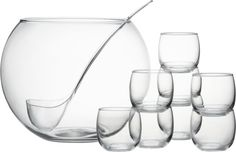 10-Piece Punch Bowl Set in Specialty Serveware | Crate and Barrel