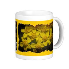 Grungy Yellow Wildflowers Mug from Florals by Fred #zazzle #gift