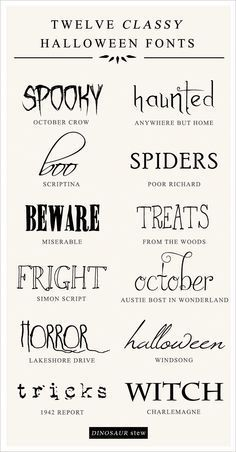 twelve classy & free halloween fonts. i'm looking at you @Janelle Kruger and @Jill Doughtie