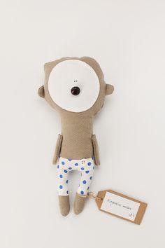 hii... too cute°° handmade #teddybear with polka-dot pyjamas | www.morka.biz//