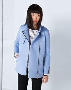 manteau néoprène bleu ciel