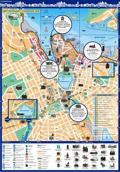 S City English Guide Stavanger Norway Map S City English Of S - Norway map stavanger