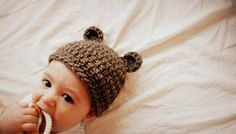 gorro de oso a crochet