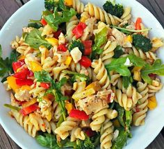 1 pound fusilli pasta (brown rice, quinoa, whole wheat, etc) 2 tablespoons Salad Supreme Seasoning (can omit) ½-¾ cup Italian dressing of choice 1 large red bell pepper, diced 1 large orange bell pepper, diced 2 cups small broccoli florets 1 medium yellow squash, diced (approx 1½ cups) 2 cups…