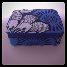Vera Bradley Pill Box VB pill box! I believe the pattern is Bayou Blue! Such a pretty color! I've used this box once, but I will wash it before shipping it. The pill boxes are removable and you can unattach them to each other. There is also a place for you to put your ID! This box zips and fits perfectly in your purse or bag. Price negotiable! Vera Bradley Accessories