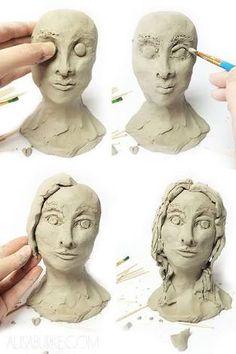 Resultado de imagem para make clay head