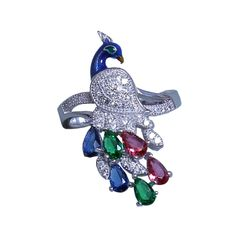 Feel on top of the world with AMAN Sterling Silver Ring for Ladies for luxury