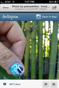 Photo by psimadethis Nail Polish Designs, Nail Designs, Nail Art, Turquoise, Nails, Instagram Posts, Jewelry, Pandas, Finger Nails
