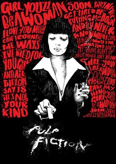 Pulp Fiction film print by peterstrainshop on Etsy, £60.00
