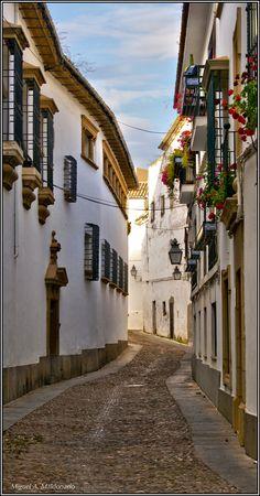 Calles de la Judería (old Jewish Quarter) en Córdoba, Spain