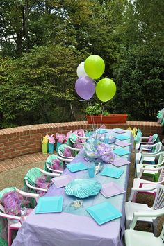 Mermaid Birthday Party   table
