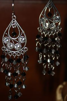 swarovski crystal chandalier earrings
