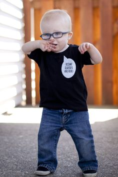 Eye power kids wear yes my glasses are real childs shirt
