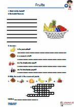#Fruit - #Obst. Do you know the fruit? #Englische #Begriffe zum Thema  Fruit. #Vokabeln, #Uebungen und #Arbeitsmaterialien. Obst erkennen und eintragen, #Uebersetzungen, #Woerter vervollständigen, #Kreuzwortraetsel, Puzzle, Fragen beantworten, #Lueckentexte