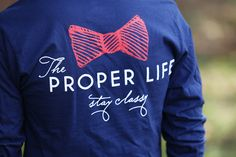 """They're back and ready to ship!  Buy your very own """"Big Logo Tee"""" by The Proper Life here at http://www.etsy.com/shop/ProperKidProblems"""