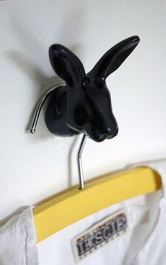 Bunny | wall hook | black  #thezoo #zoo #capventure #dutchdesign #product #JorineOosterhoff #wallhook #bunny