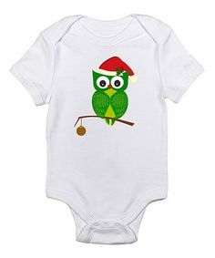 Look at this White Owl Bodysuit - Infant on #zulily today!