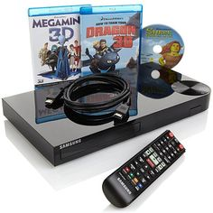 Samsung Smart 3D Wi-Fi Blu-ray/DVD Player with 3D-Ready HDMI Cable and 3 Blu-ra at HSN.com
