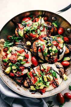California Avocado Skillet Chicken is marinated in honey balsamic and cooked in the skillet to tender and juicy perfection.  Topped ...