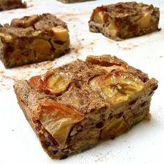 Appel-banaantaart / plaatkoek Vrij van tarwe, koemelk en geraffineerde suiker met optie voor vegan