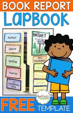 If you've ever wondered how to make a lap book, today's your day! You'll learn how to make a lapbook Book Report Projects, Reading Projects, Book Projects, Reading Activities, Teaching Reading, Learning, Lap Book Templates, Book Report Templates, Book Review Template