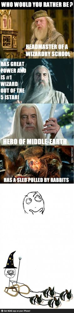 Had to re-pin simply because Radagast is hilarious and I don't like Michael Gambon as Dumbledore.