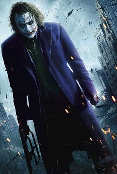 Heath Ledger did a tremendous Great Performance for trying to be a Joker but that is the diffrence between The Joker and Heat Ledger.