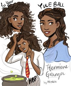 OP: been thinkin a lot about black hermione | Harry Potter