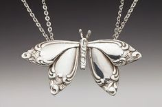 Butterfly Silverware Inspired Necklace by Jennifer Northup – Silverware Jewelry