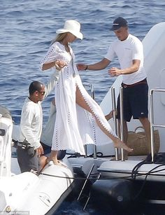 Legs for days! She seemed to treat the boat like her own personal catwalk ...