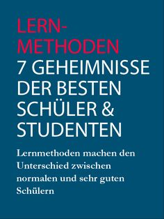 Learning methods: The 7 secrets of the best pupils and students - Studying Motivation School Motivation, Study Motivation, Motivation Success, Learning Tips, Elementary Science, School Hacks, Study Tips, Special Education, Knowledge