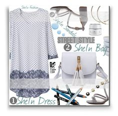"""""""Shein Multicolor Dress"""" by lillili25 ❤ liked on Polyvore featuring Styli-Style, Topshop, Caravan and GlamGlow"""