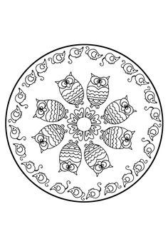 Looking for a Coloriage à Imprimer Mandala Hiboux. We have Coloriage à Imprimer Mandala Hiboux and the other about Coloriage Imprimer it free. Easy Mandala Drawing, Simple Mandala, Mandalas Drawing, Mandala Coloring Pages, Animal Coloring Pages, Coloring Book Pages, Printable Coloring Pages, Mandala Pattern, Zentangle Patterns