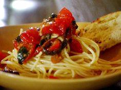 Pasta Pomodorini recipe from Michael Chiarello via Food Network