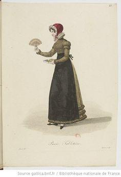 Tabletière from Georges-Jacques Gatine, Costumes d'ouvrières parisiennes, 1824, BNF Paris