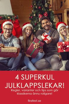 Regler och tips för julklappsspelet och tre andra superroliga julklappslekar.   #jullekar #julklappslekar #julklappsspelet #paketleken Christmas Sweaters, Tips, Mercury, Holidays, Fashion, Velvet, Moda, Holidays Events, Advice