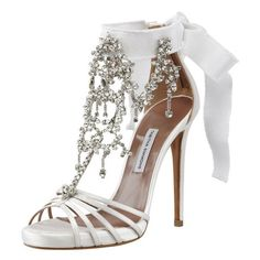 Fashionista / Tabitha Simmons Chandelier Crystal Sandal ($2,195) ❤... ❤ liked on Polyvore featuring shoes, sandals, heels, crystal heel shoes, crystal sandals, heeled sandals, tabitha simmons sandals and tabitha simmons shoes