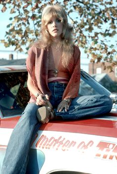 1970s Fashion Icon - Stevie Nicks    She went from biker chick bad girl to gypsy witch in the blink of an eye.  I thought she was magical.