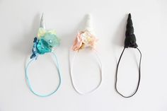 How to make a unicorn headband, with a free unicorn horn pattern. An easy DIY craft that is great for kids birthday parties!
