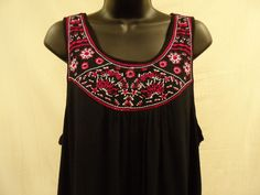 Plus Size 2X PEASANT Top HI-LO Shirt Blouse EMBROIDERY Trendy LINED Boho  NWT #ExtraTouch #KnitTop
