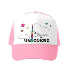 96d0dd90d94 Do you believe in unicorns  Even if you don t this 5 panel trucker hat is  cuter than cute.