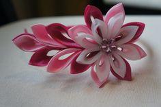 Pink Kanzashi Flower Headband by S3UDesigns on Etsy, $17.99