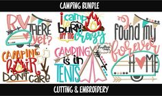 Camping Bundle - Embroidery & Cutting