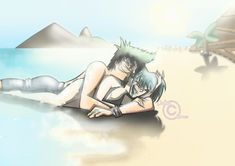 DXG: Paradise - Summer 2014 by Dalhia-Gwen on DeviantArt Total Drama Island Duncan, Belly Art, Drama Funny, Couple Cartoon, Funny Movies, Drama Series, Aesthetic Art, Cartoon Drawings, Summer 2014