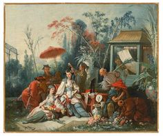 """a-l-ancien-regime: """" Chinoiserie by François Boucher Le Jardin chinois/ The Chinese Garden, 1742 """""""