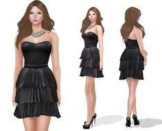 https://flic.kr/p/CxjppE | Meli Imako Full Perm Mesh MI Strapless Pleated Dress | marketplace.secondlife.com/p/Meli-Imako-Full-Perm-Mesh-MI...