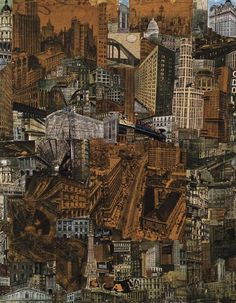 poboh: Metropolis, Collage 1923, Paul Citroen. (1896 - 1983)