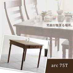 コンパクトダイニングテーブル天然木製アンティークデスクa01462 北欧 インテリア 雑貨 家具 Modern dining table ¥23220yen 〆05月08日