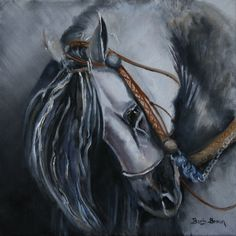 One of My latest Equine Painting. Oil on Canvas. www.barbbrownsart.com Etsy shop:  BarbBrownsFineArt